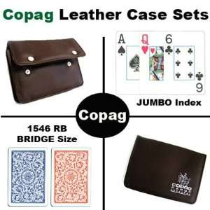 New High Quality Copag Branded Leather Case 1546 Red Blue