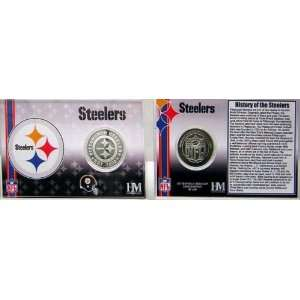 Pittsburgh Steelers Team History Coin Card