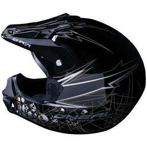 ONeal Racing 608 Helmet   Medium/Silver/Black Automotive