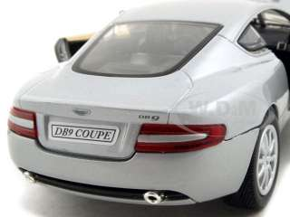 2004 ASTON MARTIN DB9 SILVER 124 DIECAST MODEL CAR