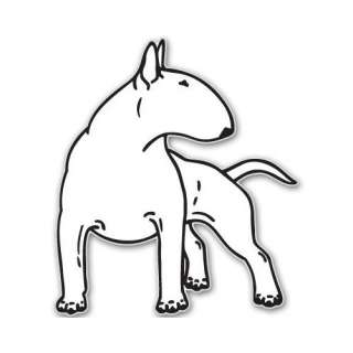 BULL TERRIER dog car bumper sticker decal 6 x 6