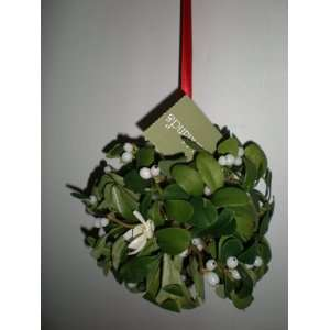 Hanging Mistletoe Christmas Kissing Ball, 7 Round Boxed