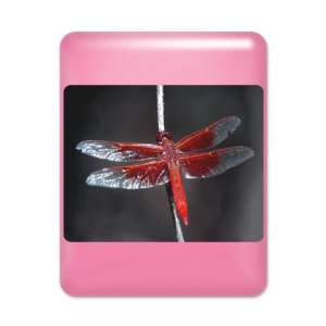 iPad Case Hot Pink Red Flame Dragonfly
