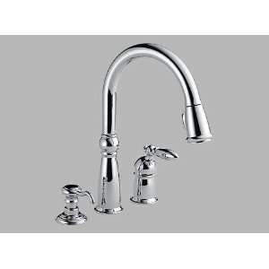 Delta Faucet 955 RBSD DST Victorian Single Handle Pull Down Kitchen