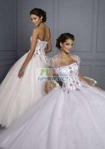Quinceanera Wedding Bridesmaid Evening Gown Prom Dress