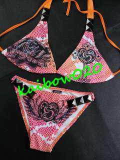 NEW Neon Pyramid Women Sexy Swimwear Swimsuit Bikini All Size 010