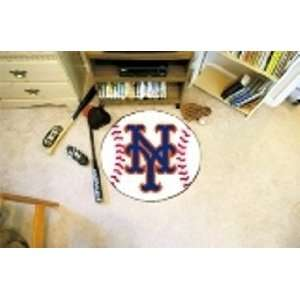 MLB New York Mets Baseball Shaped Door Mat Rug Sports