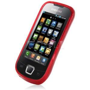 Ecell   RED SILICONE GEL SKIN CASE COVER FOR SAMSUNG I5800