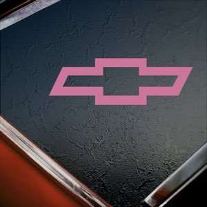 CHEVROLET CHEVY BOWTIE Pink Decal Truck Window Pink