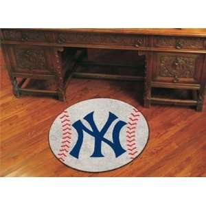 New York Yankees Baseball Shaped Area Rug Welcome/Door Mat
