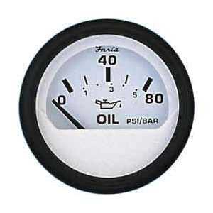 Faria 12902 Euro White Oil Pressure Gauge Automotive