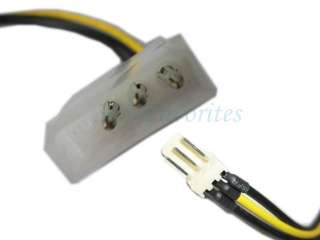 Molex IDE 4 to 3 pin CPU/Chasis Fan Power Cable Adapter