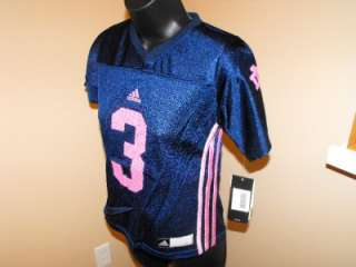 NEW Adidas NOTRE DAME FIGHTING IRISH GIRLS #3 YOUTH 7 8 SMALL Jersey