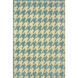 Sawgrass Mills Houndstooth Spruce Rug   Medium 5x8
