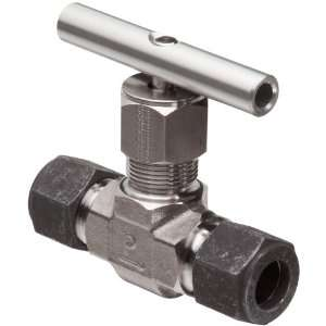 Parker 316 Stainless Steel Inline Process Needle Valve with PTFE Stem