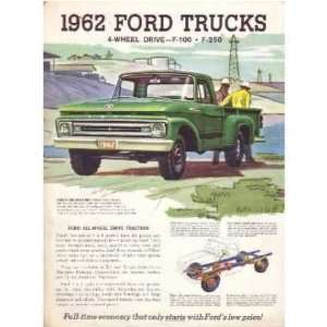 1962 FORD 4 Wheel Drive PICKUP Sales Brochure Book