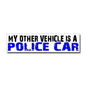 Other Vehicle is Police Car   Window Bumper Sticker