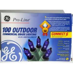 Pro line Commercial Grade Miniature Christmas Lights, Blue 100 Outdoor