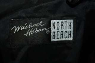 MICHAEL HOBAN NORTH BEACH BLACK SOFT 100% LEATHER JEANS PANTS 32 MINT