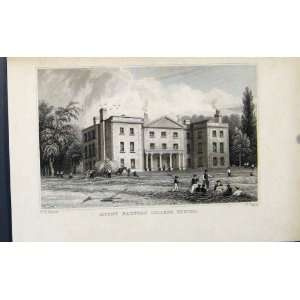 Mount Radford College Exeter England Antique Print