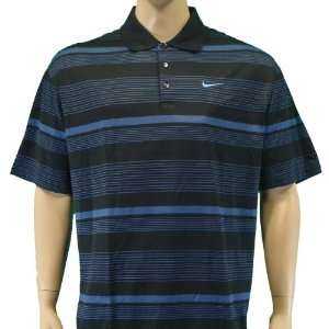 Nike Tiger Woods Fit Dry Golf Polo w/ Tour Swoosh Navy