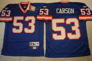 Licensed REEBOK Throwback Giants HARRY CARSON EQT Premier SEWN JERSEY