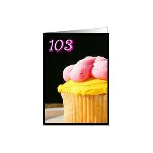 Happy 103rd Birthday Muffin Card Toys & Games