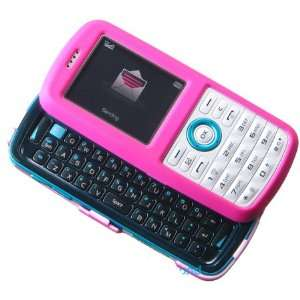 Hot Pink Rubberize Snap on Hard Skin Cover Case for Samsung Gravity