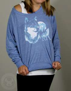 Vintage 80s Wolf American Apparel BR394 Wolves Pullover