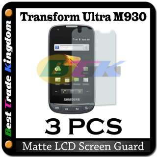 3x ANTI GLARE Matte Screen Protector Boost Mobile Samsung Transform