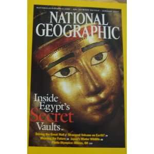 National Geographic January 2003 Inside Egypts Secret