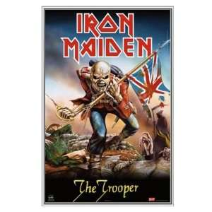 Iron Maiden The Trooper   Framed Print   Quality Silver Metal Frame 22