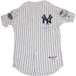 Derek Jeter Autographed/Hand Signed Authentic 2008 Yankees Home Jersey