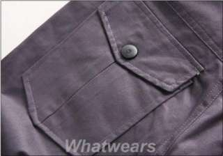 Mens Stylish Trousers Slim Straight Leg Pants Grey W59