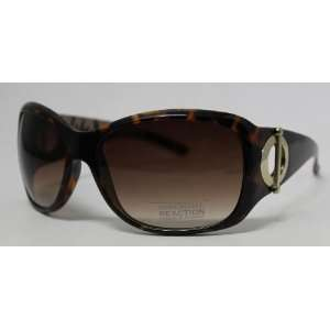 Kenneth Cole Reaction Sunglass Tortoise Modified Rectangle Plastic