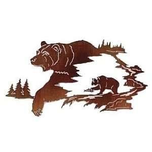 Bear Wilderness Wall Hanging   Metal Art