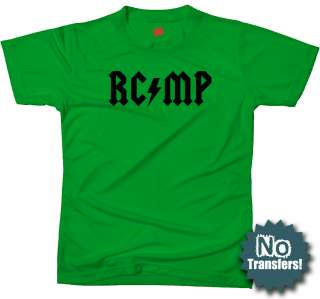 RCMP Rock Canadian Police Cop Law Enforcement T shirt