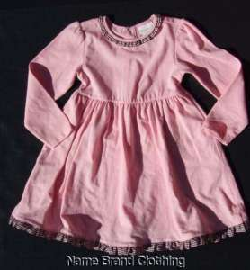 girls Maggie & Zoe pink ruffle trim dress 24 months