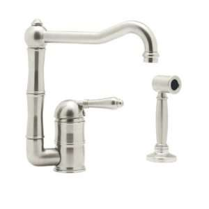 Rohl A3608LMWSPN 2 Country Kitchen Single Hole Faucet with