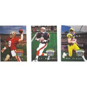 1996   NFL / Playoff Absolute   3 Football Trading Cards   Steve Young