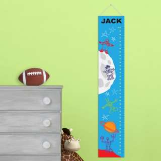 Personalized Kids Boy Girl Height Chart Wall Art Canvas, Child Room