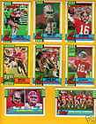 90 Topps San Francisco 49ers Set JOE MONTANA JERRY RICE RONNIE LOTT