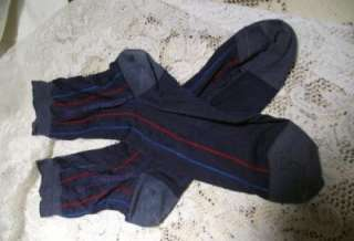 Pair of Vintage Mens Silk and Cotton Socks Blue