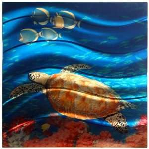 Next Innovations WA2SEATURTLE 22 Inch by 22 Inch Sea Turtle Art2 Wall