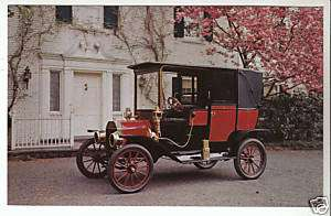 1911 FORD MODEL T TOWN CAR Picture Photo POSTCARD
