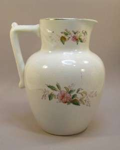 Antique Ott & Brewer Ironstone Pitcher for restoration