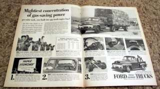 1954 Ford F 100 Stepside Pickup Truck Original Ad