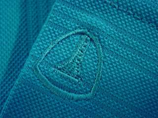 Pro Tour Mens Fitted Ottoman Polo Shirt MED TEAL BLUE Golf Short