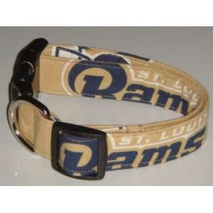 NFL St. Louis Rams Football Dog Collar Style 3 X Large 1