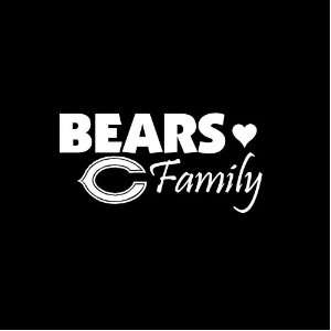 Chicago Bears Family Car Window Decal Sticker White 7